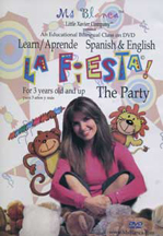 "MS BLANCA - ""LA FIESTA - THE PARTY"" LEARN ENGLISH OR SPANISH cover image"