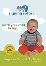 SIGNING SAFARI: BEGINNER SIGNS & ALPHABET cover image