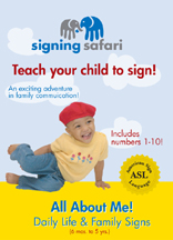 SIGNING SAFARI: ALL ABOUT ME! DAILY LIFE AND FAMILY SIGNS cover image