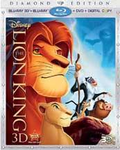 LION KING BLU-RAY 3D/ BLU-RAY/DVD/DIGITAL COPY cover image