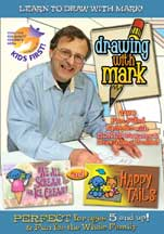 DRAWING WITH MARK: WE ALL SCREAM FOR ICE CREAM/HAPPY TAILS cover image