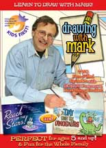 DRAWING WITH MARK: A DAY WITH THE DINOSAUR/REACH FOR THE STARS cover image
