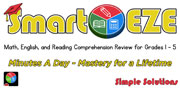 SMART-EZE: MINUTES A DAY, MATH, ENGLISH AND READING COMPREHENSION cover image